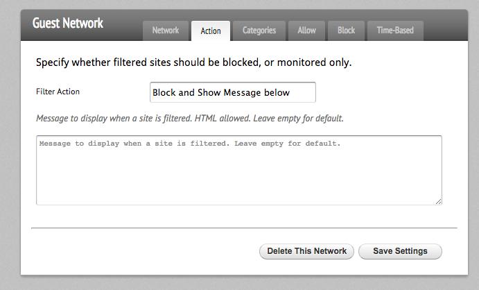 Setting HTML Block Page